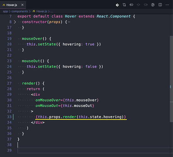 Hover.js - this.props.render